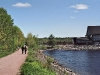 Multi-use, Rotary Fitness Trail, View of Stockey Centre, Town of Parry Sound